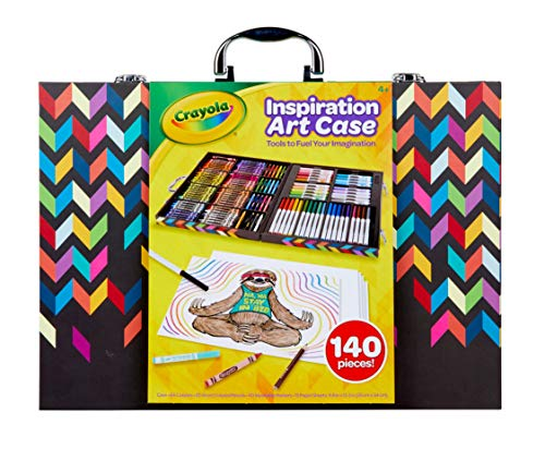 Crayola Imagination Inspiration Art Case 140Piece, Art Set, Gifts for Kids, Age 4, 5, 6, 7 (Styles May Vary) (Art Crayola Washable Set)