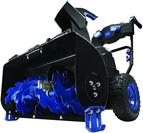 Snow Joe ION8024-XRP-RM 80-Volt iONMAX Cordless Two Stage Snow Blower Kit 24-Inch 4-Speed Headlights W 2 x 6.0-Ah Batteries and Charger Renewed