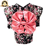 CatYou Pet Dress Up Costume Japanese Kimono With Bowknot Apparel for Dog Cat Puppy Pet (Small)
