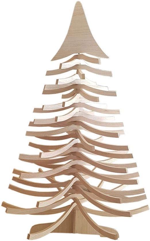 Tischdekoration Spanbaum natur Höhe 120mm NEU Holzbaum Weihnachtsdekoration