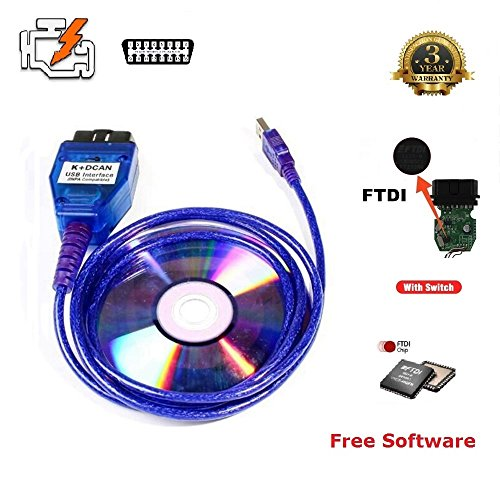 AntiBreak INPA K+ CAN Ediabas Cable with Switch DCAN Interface Coding Support E serials Interface for BMW R56 E87 E93 E70 (Inpa K+dcan Usb Interface)