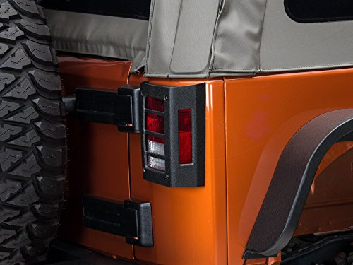 Barricade Tail Light Guards in Textured Black – Jeep Wrangler JK 2007-2018