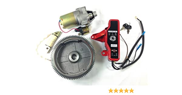 Amazon.com: 10LA GX160 GX200 ELECTRIC START KIT STARTER MOTOR FLYWHEEL SWITCH ST18+: Automotive