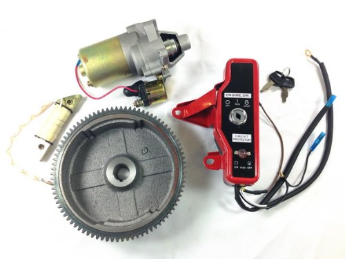 10LA GX160 GX200 ELECTRIC START KIT STARTER MOTOR FLYWHEEL SWITCH ST18+ Electric Start Motor