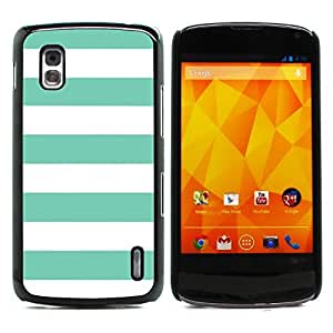 Graphic4You Color Stripes Pattern Design Hard Case Cover for LG Nexus 4 (Tiffany Blue)