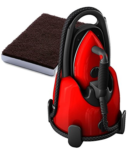 Laurastar Lift+ Steam Iron + Soleplate Cleaning Mat Bundle-Swiss-Edition, Red by Laurastar