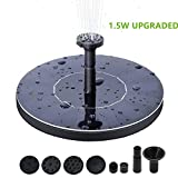 Solar Bird Bath Fountain Pump, 1.5W Upgrade Version Solar Fountain Pump, Solar Panel Kit Water Pump, for Garden, Pond, Pool, Patio Decoration, Aquarium.