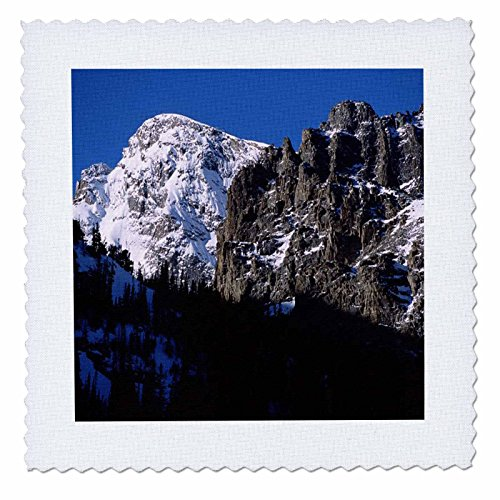 (3dRose qs_26280_2 Glacier Gorge Rocky Mountain National Park-Quilt Square, 6 by 6-Inch)