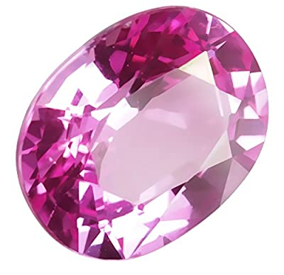 Hot Pink Lab Sapphire Loose Unset 15mm from uGems