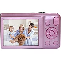 KINGEAR V100 2.7 Inch TFT Color LCD Screen 15MP 720P HD Anti-shake Smile Capture Digital Video Camera With 5X Optical Zoom 4X Digital Zoom-Pink