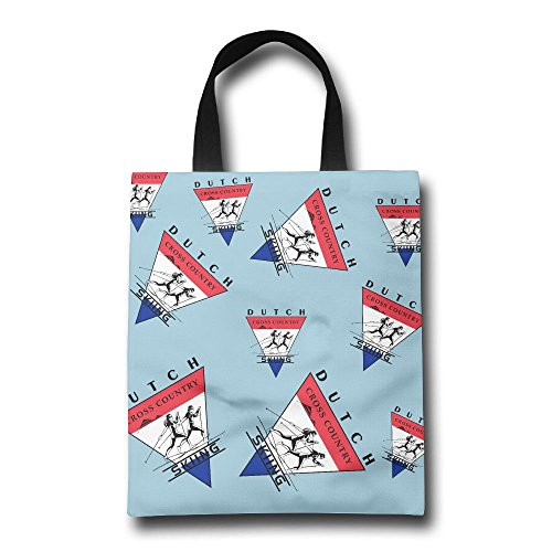 Skiing Dutch Flag Cross-country Unisex Reusable Shopping Bags Market Bags