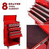 Tool Chest 8-Drawer Tool Box High Capacity