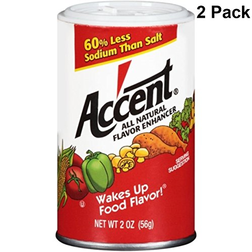 Accent Flavor Enhancer Shaker - 2 Oz. Each - 2 Pack by Accent