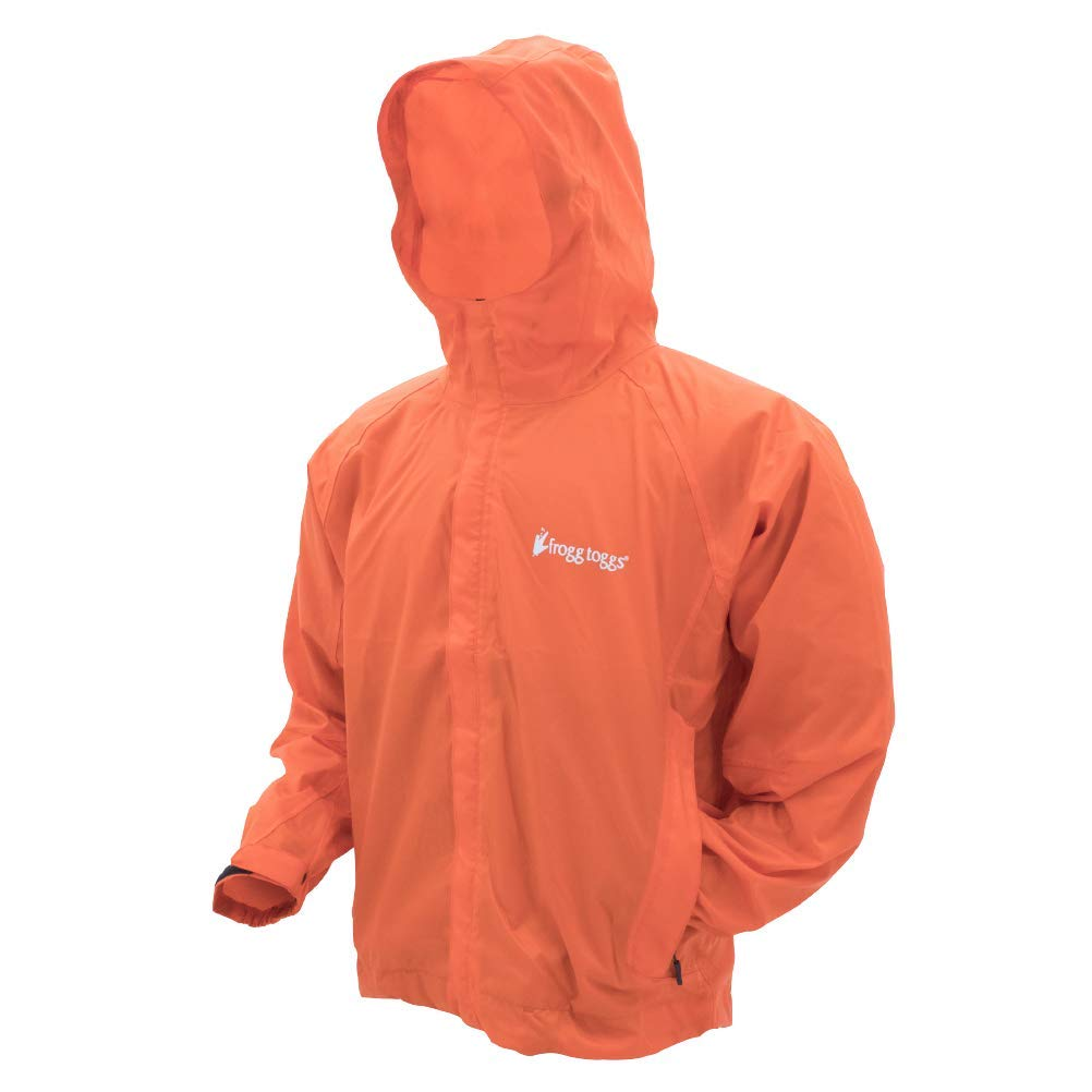 Frogg Toggs Stormwatch Jacket, Orange, Size Large by Frogg Toggs