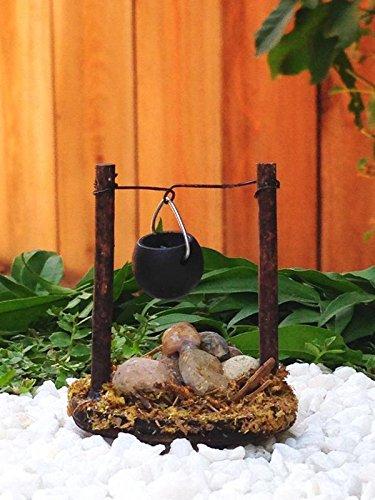 Lovely Amazon.com: Miniature FAIRY GARDEN Accessories   Micro Mini Wood Stone  Campfire W/Pot   Mini Dollhouse Supply Expressions: Garden U0026 Outdoor