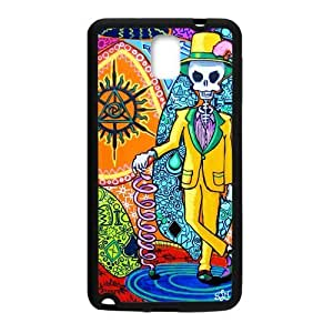 Canting_Good Tie Dye Colorful Mr Skull Custom Case Cover Shell for Samsung Galaxy Note 3 (Laser Technology)