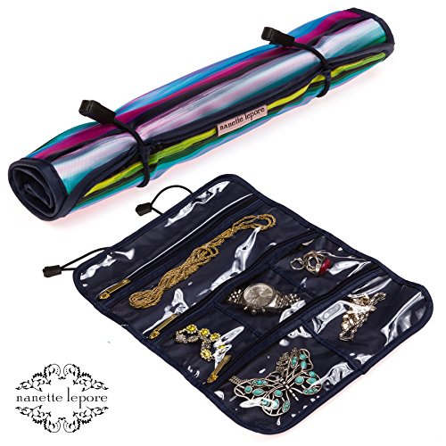 Nanette Lepore Jewelry Roll (Multi Stripe/Black) Jewelry Roll Case