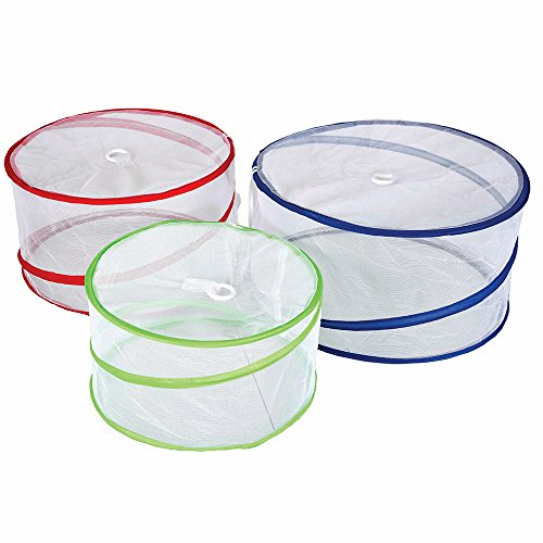 Pop Up Food Covers - Stansport Pop-Up Mesh Food Covers (Set of 3), 15