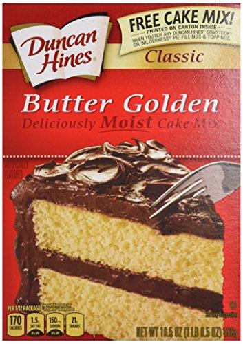 Duncan Hines Classic Cake Mix, Butter Golden, 15.25 Ounce