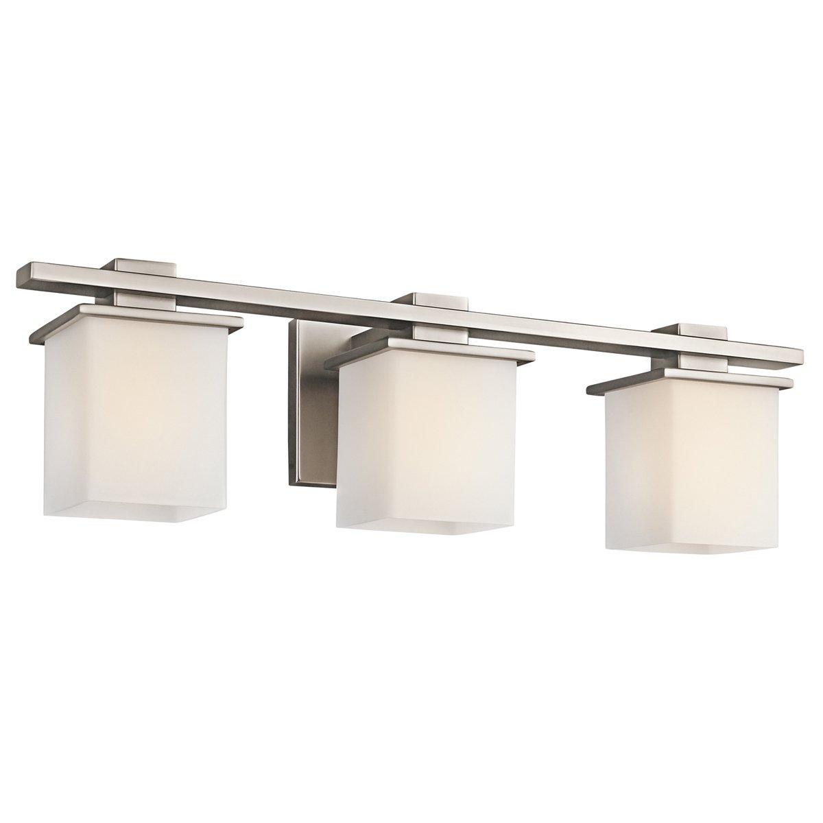 kichler 45151ap three light bath vanity lighting fixtures amazoncom