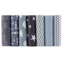 Shuan Shuo Gray Series Cotton Fabric Quilting Patchwork Fabric Fat Quarter Bundles Fabric For Sewing DIY Crafts Handmade Bags Pillows 40X50cm 7pcs/lot