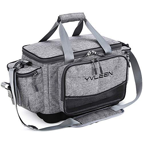 YVLEEN Fishing Tackle Box Bag - Outdoor Large Fishing Tackle Storage Bag - 100% Water-Resistant Polyester Material - Fishing Tackle Bags - Suitable for 3600 3700 Tackle Box