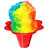 Shaved Ice or Snow Cone Flower Cups 8 ounce (medium), Case of 1000, 4 Colors