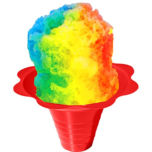 (Shaved Ice or Snow Cone Flower Cups 8 ounce (medium), Case of 1000, 4 Colors)