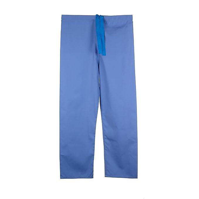 Pantalón medico unisex reversible ultra cómodo con cordón en la cintura - Colores-Frambuesa/