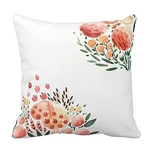 Floral Watercolor Throw Pillow case 20 x 20