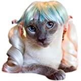 Drasawee Funny Synthetic Puppy Pet Wigs Dog Cat Hair Costumes