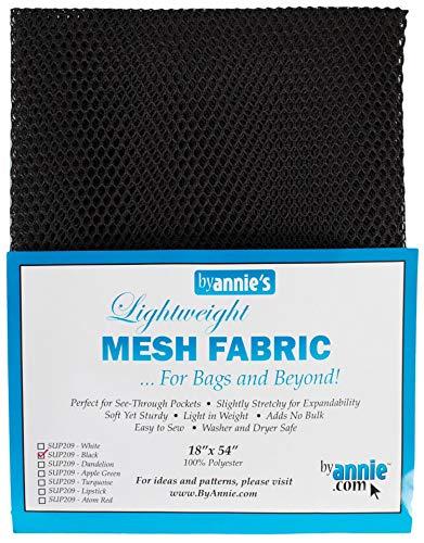 byannie sup209 de Black Lightweight Mesh Fabric, 18 x 54 Pulgadas ...