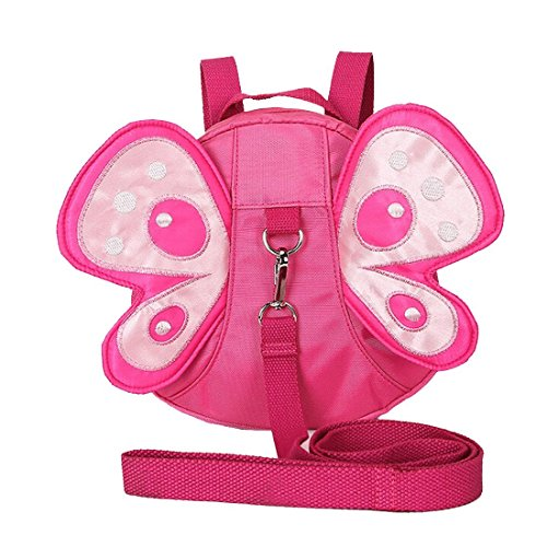 Baby Toddler Walking Safety Butterfly Backpack with Leash, Child Harness Reins Strap Little Bag, Kid Mini Anti-lost Travel Backpack, Gift for Children Girls