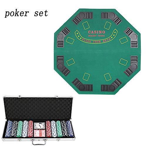 (Karmas Product Poker Chip Set for Texas Holdem, Blackjack, Gambling with Carrying Case, Cards, Buttons and 500 Pieces Casino Chips,Total Weight 16.3lb)