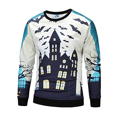 Halloween Boys Costumes Casual Scary Pumpkin Print Party KIKOY Long Sleeve Top -