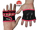 The Ninja Workout Glove, WOD, Callus Guard Workout Gloves, Weightlifting & Cross Training Workouts, Neoprene Padded Gripper Palm, Easy On and Off, Quick Transition, Multifunctional, Pink