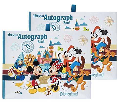 Disney Albums Autograph (Disneyland Official Autograph Book - Set of 2 Books, White, Small)