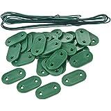SODIPA Outillage , Plaquette de fixation vert (30 plaquettes + 4m20 de fil)