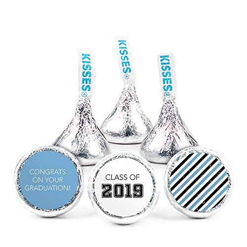 Light Blue Graduation Candy Buffet Class of 2019 (Approx 14lbs) - Includes Hershey's Kisses, Dum Dums Lollipops, Gumballs and More by WH Candy (Image #2)