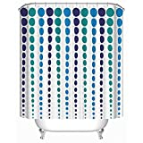 Polka Dot Shower Curtain Homeizen Polka Dot Shower Curtain Set - 71 X 71 Inches with 12 Rings - Premium Quality Woven Polyester Fabric - Unique Design Featuring Polka Dots in Blue Violet and Teal Colors