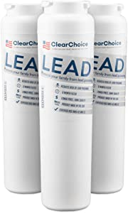 Clear Choice Lead Filter Replacement for UKF8001 UKF8001AXX WF50 OWF50 Refrigerator Water Filter Compatible with WF50 OWF50, NSF/ANSI 42 Certified, Box of 3, Made in the USA
