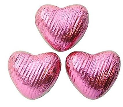 Pink Chocolate Hearts - Bulk box of 200: Amazon.co.uk: Grocery