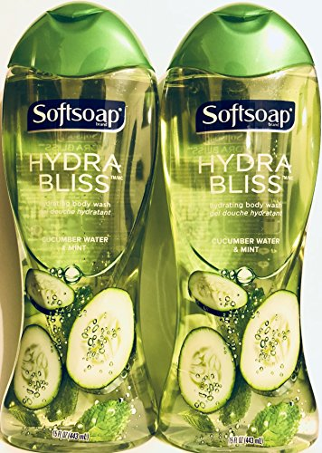 Softsoap Hydrating Body Wash - Hydra Bliss - Cucumber Water & Mint - Net Wt. 15 FL OZ (443 mL) Per Bottle - Pack of 2 - Softsoap Body Wash Hydrating