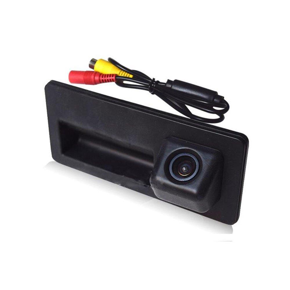 Kalakass Colore telecamera di retrovisione con linee di griglia come luce targa, sensore di parcheggio Nero Retrocamera per A3 A4 A6L A6 A8L A8 Q7 A4 B6 B7 8E 8H 8P Q5 (01678=32x110mm)