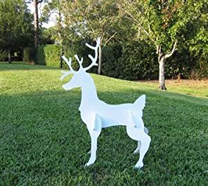 Christmas reindeer medium size home kitchen for Amazon christmas lawn decorations