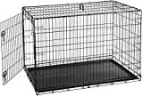 AmazonBasics Single-Door Folding Metal Dog Crate – 48 Inches For Sale