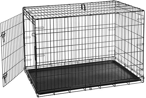 Cheap AmazonBasics Single-Door Folding Metal Dog Crate – 48 Inches