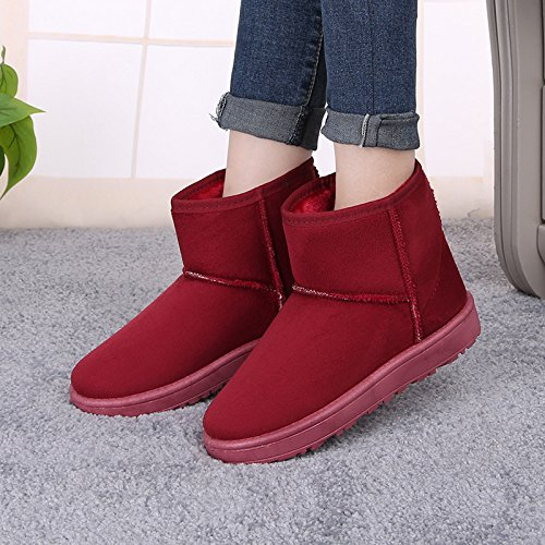 Warm Warm Boots Red Women Wine Women U7qxdw0w