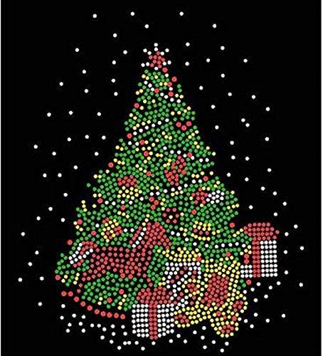 Christmas Tree with Horse Rhinestone Iron on T Shirt Design