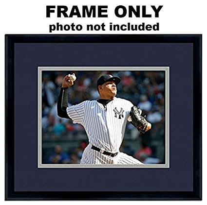 Amazon 5x7 Photo Frame With New York Yankees Colors Double Mat